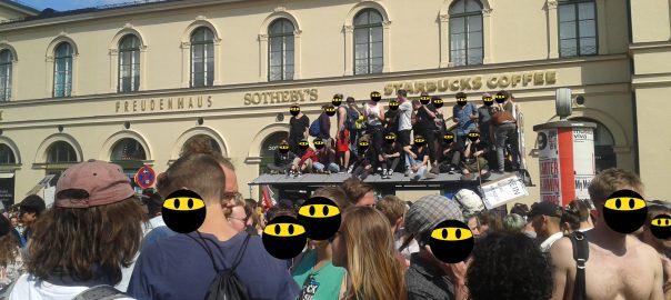 Demo in München gegen das PAG